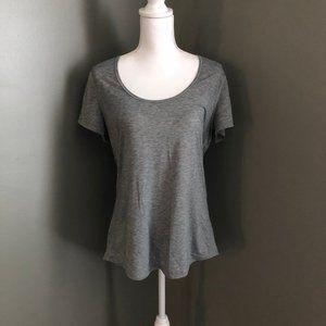 Lucy Athletic Top Shirt Size Large Gray